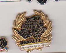 PIN'S  RENAULT CHAMPION DU MONDE 92 SIGNE ARTHUS BERTRAND - Arthus Bertrand