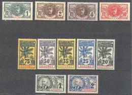 Dahomey: Yvert Entre N° 18/32x; 11 Valeurs; Le 23 Clair - Dahomey (1899-1944)