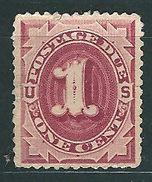 USA 1879: Portomarke Nr. 1b - 1 C° -rotbraun - 1. Ziffernzeichnung - Ungebraucht