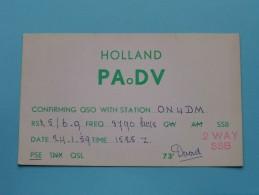 HOLLAND ( PAoDV ) CB Radio - Netherlands 2 Way - 1959 ( Zie Foto Voor Details ) - Radio Amateur