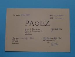 HOLLAND ( PAoEZ ) CB Radio - Netherlands Nijmegen Ir. A. A. Dogterom - 1962 ( Zie Foto Voor Details ) - Radio Amateur