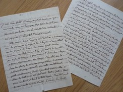 Hopital SAINT NICOLAS à METZ. [ Début 1800 ]. Rapport ACTIVITE. - Handtekening