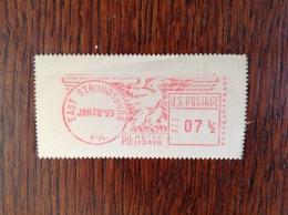 Vignette D'affranchissement D'East Stroudsburg De 1950 Rare - Errors, Freaks & Oddities (EFOs)