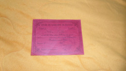 ORDRE DU JOUR ANCIEN. / LYCEE DE GARCONS DE RENNES DE 1913. PARFAITEMENT BIEN. VALEUR 4 HEURES ?. / CACHET. - Unclassified