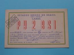 BRASIL ( PY2BSI ) CB Radio - L.A.B.R.E. Sao Paulo J P Mosca - 1957 ( Zie Foto Voor Details ) - Radio Amateur