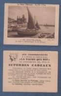 IMAGE LA VACHE QUI RIT - LA FRANCE PITTORESQUE - LA COTE D'AZUR - SAINT RAPHAËL - LE PORT ET NOTRE DAME DE LA VICTOIRE - - Trade Cards