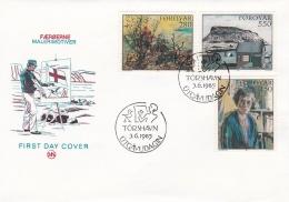 Faroe Islands FDC 1985 Paintings (SKO14-16) - Arts