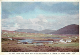 Road Across, Achill Island, Mayo, Ireland Postcard Unposted - Mayo