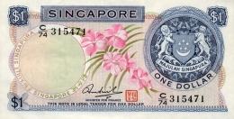 Singapore 1 Dollar 1967-72 Pick 1d AUNC - Singapore
