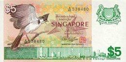 Singapore 5 Dollar 1976 Pick 10 UNC - Singapore