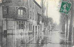 Asnières - Inondation De Janvier 1910 - Le Quai D'Asnières - Carte E.M. - Inondations
