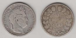 5 FRS 1845 BB - LOUIS PHILIPPE I - TETE LAUREE - ARGENT - France