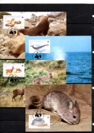 Maxicards WWF-Set 20 Chile 1066/9 MKt 16€ Chinchilla Wal Hirsch Naturschutz Dokumentation 1984 Wildlife Cards Of America - Chile