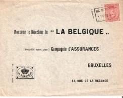 N° 138 Annulé Par Griffe De Fortune ENCADREE NIL.ST.VINCENT 11/2/1919 S/L. V/Bruxelles R. - Postmark Collection