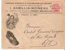 N° 138 Annulé Par Griffe De Fortune VORST-BRUSSEL Bil. S/jolie L. Public. Chaussures Gabillia TB - Postmark Collection