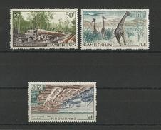 CAMEROUN - POSTE AERIENNE YVERT N° 46/48 **/* MNH (48 MH) - COTE = 22.1 EUR. - Cameroun (1915-1959)