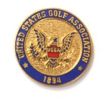 Pin's Relief USGA - United States Golf Association 1894 - Armoirie Des Etats Unis - Aigle - F830 - Golf