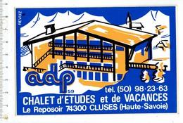 37231 ( 2 Scans ) Autocollant - Chalet D'etudes Et De Vacances Le Reposoir Cluses - Cluses