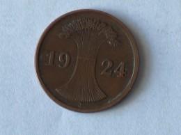 ALLEMAGNE 2 Pfennig 1924 J - [ 3] 1918-1933 : República De Weimar