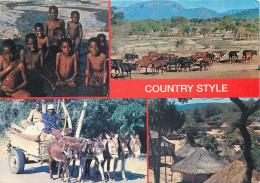 Donkeys And Children, Country Style, Zimbabwe Postcard Unposted - Zimbabwe