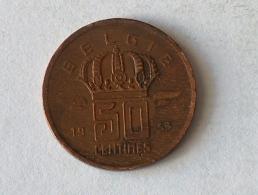 BELGIQUE 50 CENTIMES 1953 - 1951-1993: Baudouin I