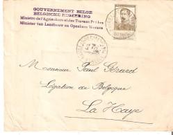 N° 124 Obl. Le Hâvre (SPECIAL) 1/4/15 + Griffe Gvt Belge/Ministère Agriculture V/Le Hâvre - WW I