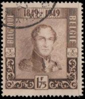 Belgique 1949. ~ YT 808 - 100 Ans Du Timbre. Léopold 1er. Par Baugnier - Belgique