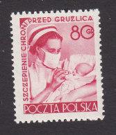 Poland, Scott #587, Mint Hinged, Nurse Feeding Baby, Issued 1953 - 1944-.... Republic