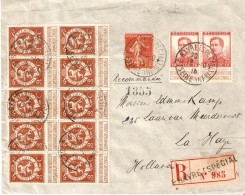 N° 108(10)-123(2) + TP.Français138 LE HAVRE (SPECIAL)12/10/18 S/L. Rec. V/LA HAYE Londres - Guerre 14-18