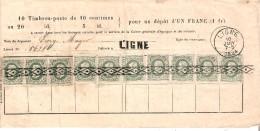 N° 30(10) Annul. ROULETTE S/Bull. D'Epargne GRIFFE LIGNE Et Cad LIGNE 10/1/1884 - 1869-1883 Leopold II