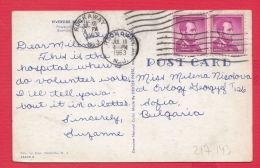 217143 / 1963 - 4+4 C. - LINCOLN , ROCKAWAY N.J. , RIVERSIDE HOSPITAL BOONTON N. J. , United States USA Etats-Unis - Storia Postale