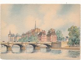 BARRE DAYEZ - 2012X - Paris, Le Pont Neuf - Barday - CPSM 10,5 X 15 Cm Non écrite - Illustrateurs & Photographes