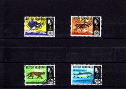 BRITISH HONDURAS - 1967 - O/FINE CANCELLED - TOURISM, JAGUAR, SWORDFISH .. Mi 201/4   Yv 207/10 - British Honduras (...-1970)