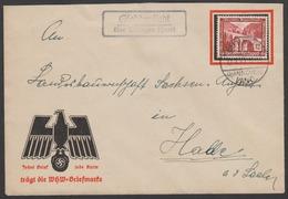 SONDERBRIEF WHW MIT SCHWARZEM ADLER   FERNBRIEF MIT LANDPOSTSTEMPEL WHW MARKE VON 1936 - Deutschland