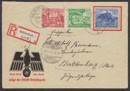 SONDERBRIEF WHW MIT SCHWARZEM ADLER   ALS EINSCHREIBEN MIT WHW MARKEN VON 1939 - Deutschland