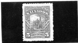 B - 1892 El Salvador (linguellato) - El Salvador