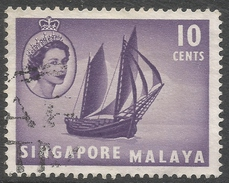 Singapore. 1955-59 QEII. 10c Used. SG 44 - Singapore (...-1959)