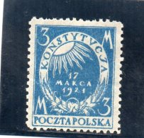 POLOGNE 1921 * - 1919-1939 Repubblica