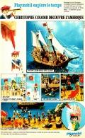 """PUB   PLAYMOBIL """" CHRISTOPHE COLOMB DECOUVRE L'AMERIQUE """" 1974 (2) - Playmobil"""