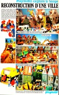 """PUB  PLAYMOBIL  EXPLORE LE TEMPS """" RECONSTRUCTION D'UNE VILLE  """" 1981 (13) - Playmobil"""