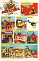 """PUB  LEGO  """" BATIT LA VILLE """" 1980 (3) - Figures"""