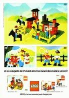 """PUB  LEGO  """" LEGO A LA CONQUETE DE L'OUEST """" 1977 (4) - Figures"""