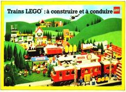 """PUB  TRAINS A CONSTRUIRE ET A CONDUIRE  """"  LEGO  """" 1981 (8) - Figures"""