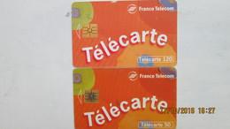 2 TELECARTES 50 ET 120 FRANCE TELECOM - Telecom