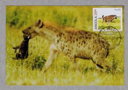 "HIENA MALHADA ""Crocuta Crocuta"" ANGOLA Faune Wild Animals Animaux Maximum Cards Portugal Mc611 - Stamps"