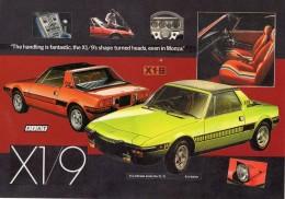 Fiat X1/9  -  Classic Sports Cars  -  Original Manufacturers Illustrations - CPM - Turismo