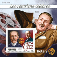 GUINEA 2016 - Rotary, Walt Disney S/S. Official Issue