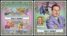 NIGER 2016 - Walt Disney, M/S + S/S. Official Issue
