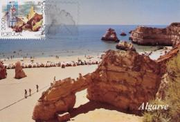 MAXIMUM CARD - MAXICARD - MAXIMUMKARTE - CARTE MAXIMUM - PORTUGAL - PRAIA DA ROCHA - ALGARVE - OBL. TRIPLE - Tarjetas – Máximo