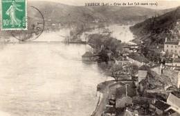 CPA     -     LUZECH     -     CRUE DU LOT   -   25 MARS 1912 - Luzech
